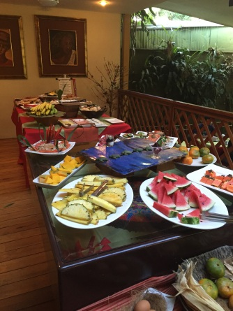 The breakfast spread at Hotel Aranjuez